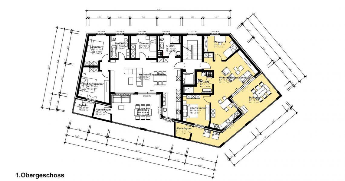 1.OG 3.5 Zimmerwohnung 1.3 H1