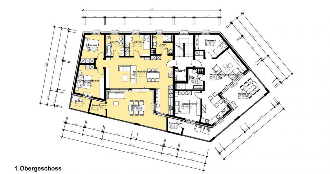 1.OG 4.5 Zimmerwohnung 1.4 H1