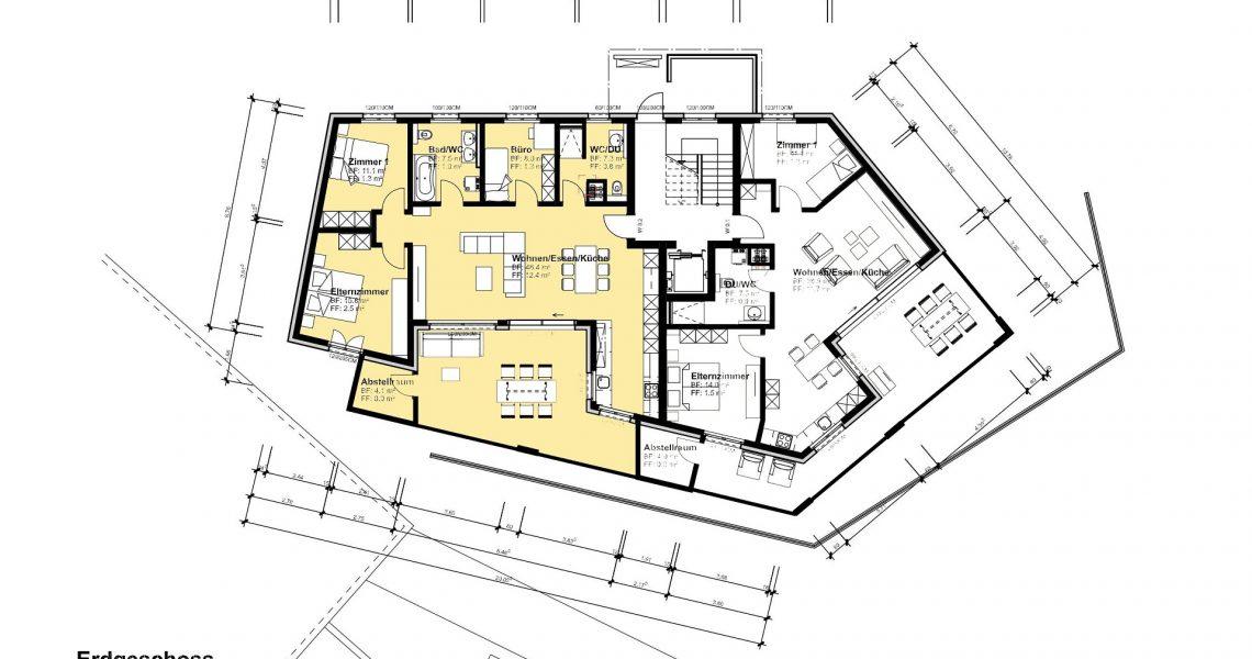 EG 4.5 Zimmerwohnung 0.2 H1