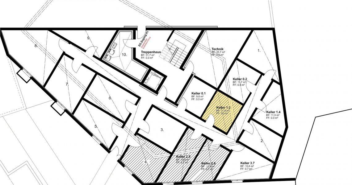 KG Keller zu Wohnung 1.3 H1