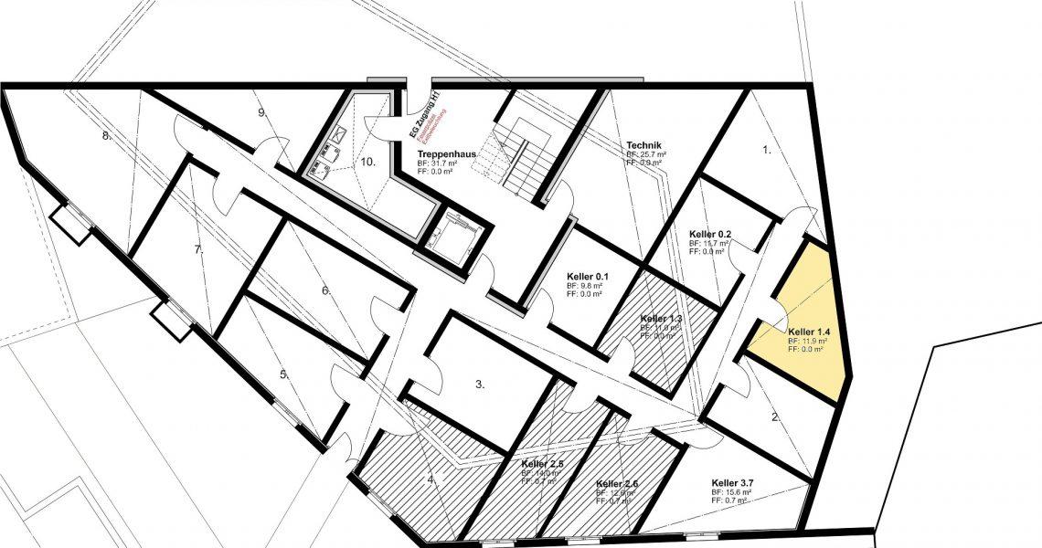 KG Keller zu Wohnung 1.4 H1