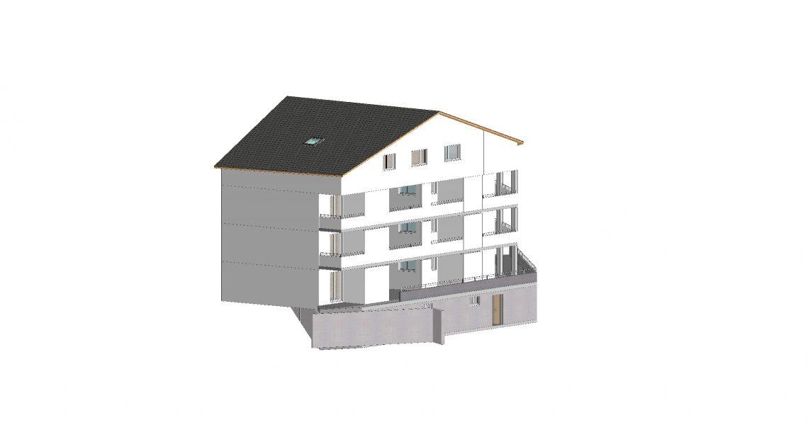 Süd Ost Fassade provisorisch H1