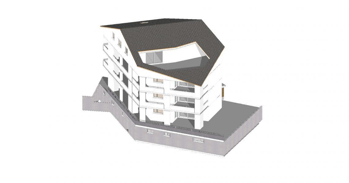 Süd West Fassade provisorisch H1